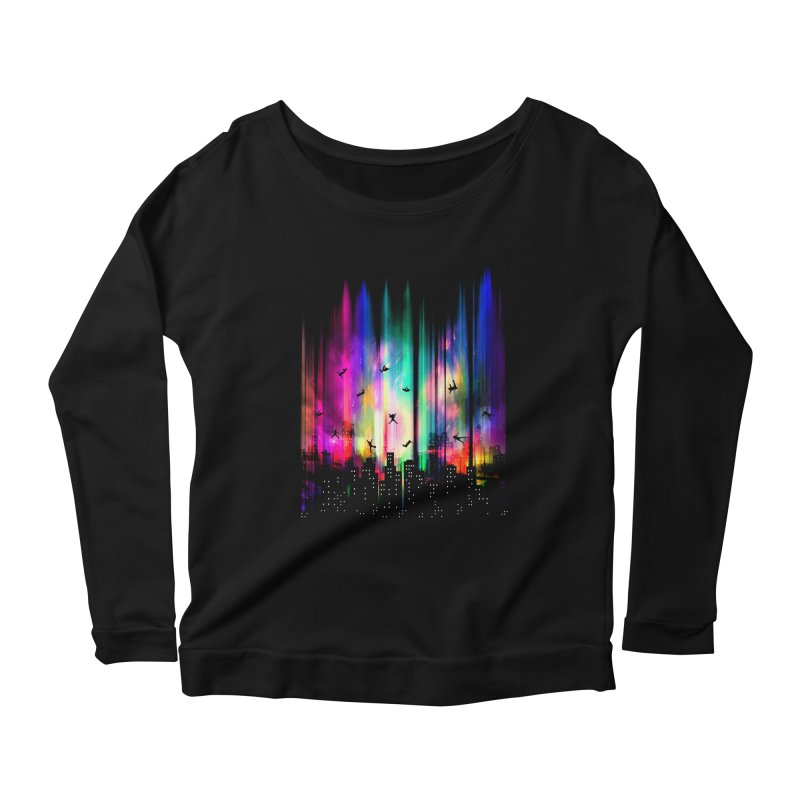 Feel Without Gravity Women's Longsleeve Scoopneck  by moncheng's Artist Shop