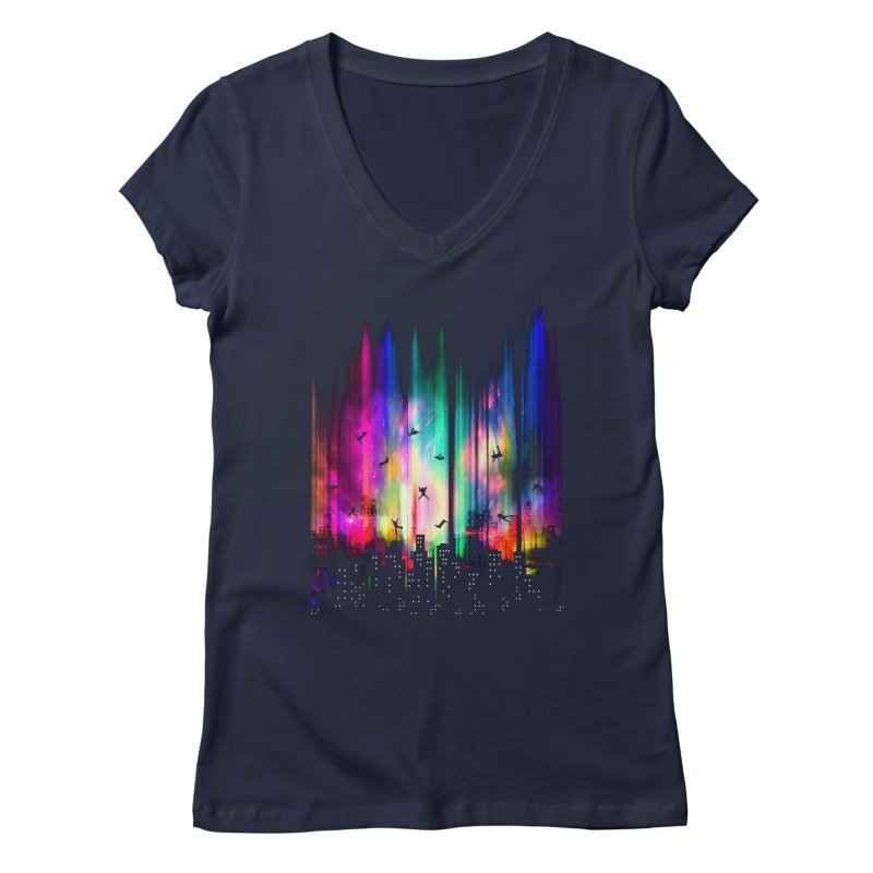 Feel Without Gravity Women's Regular V-Neck by moncheng's Artist Shop