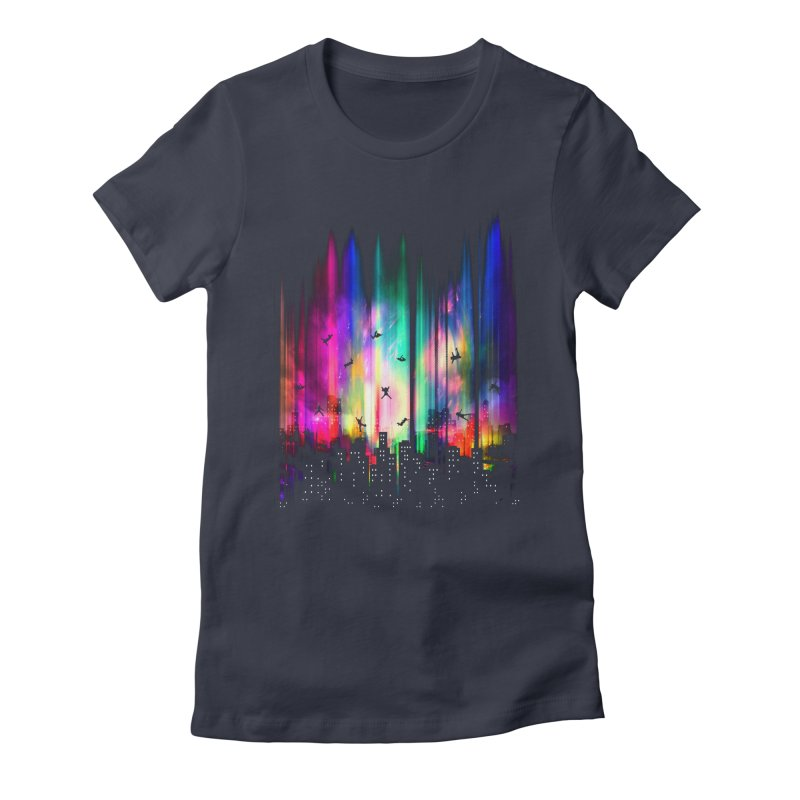Feel Without Gravity Women's Fitted T-Shirt by moncheng's Artist Shop