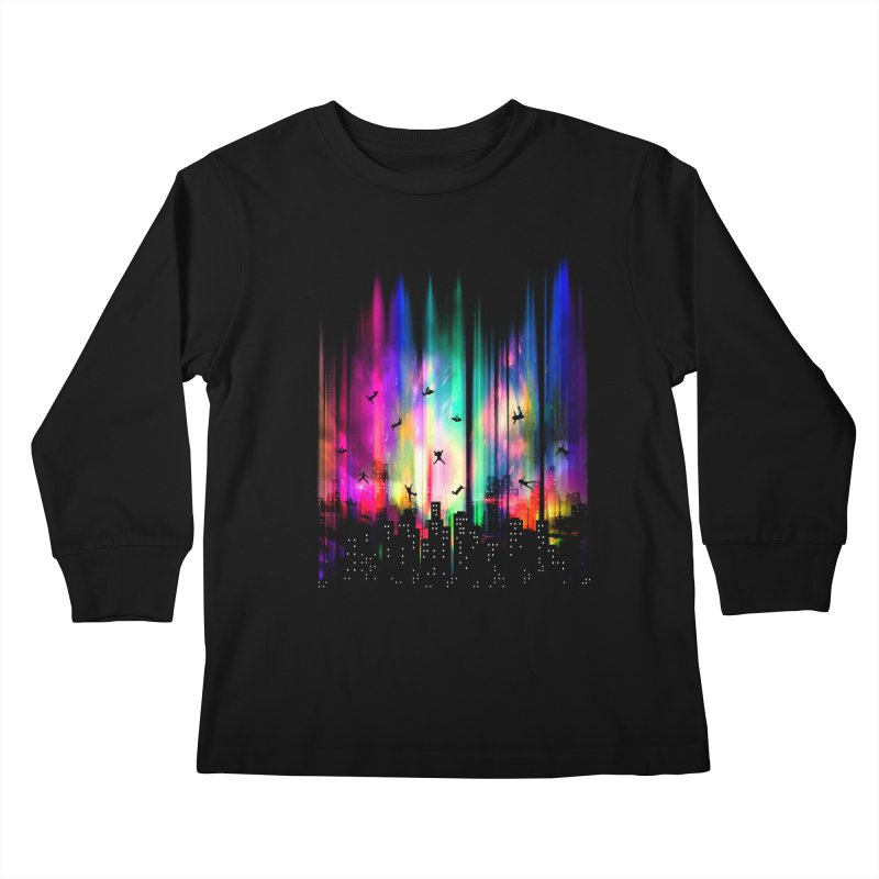 Feel Without Gravity Kids Longsleeve T-Shirt by moncheng's Artist Shop