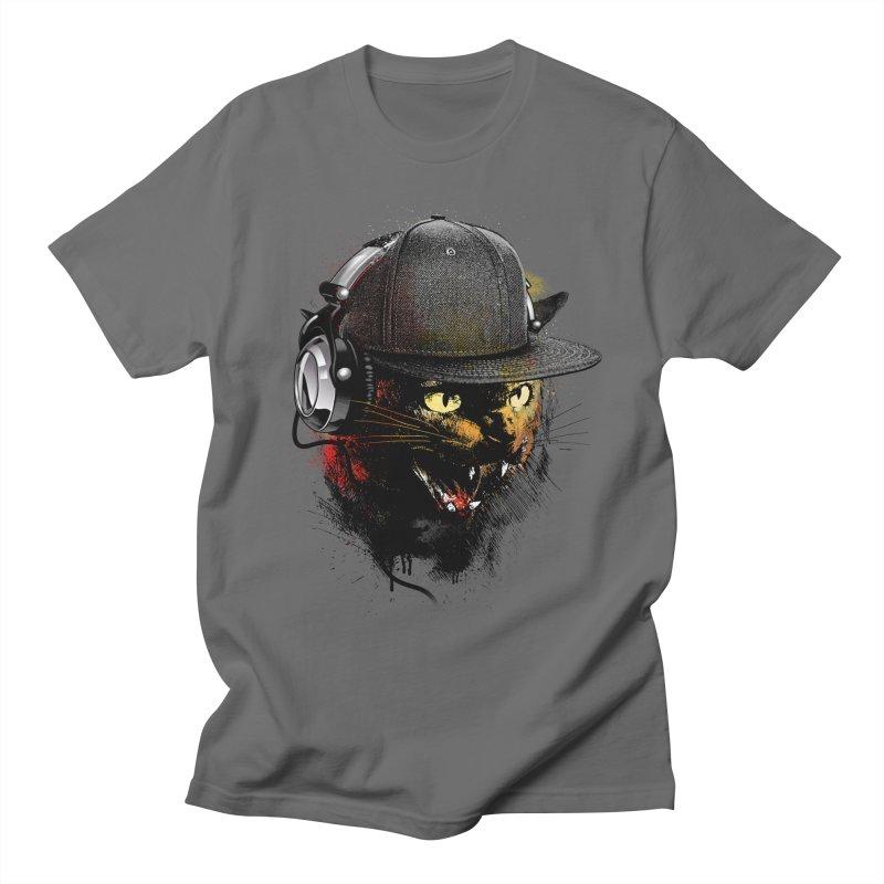 Dj Cat Men's T-Shirt by moncheng's Artist Shop
