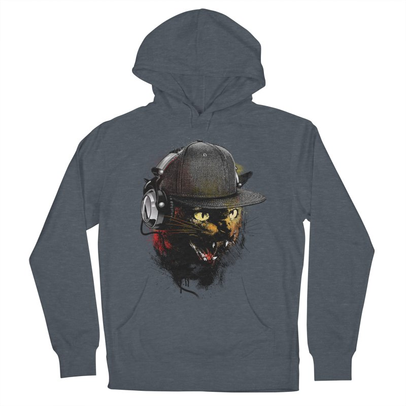 Dj Cat Women's French Terry Pullover Hoody by moncheng's Artist Shop