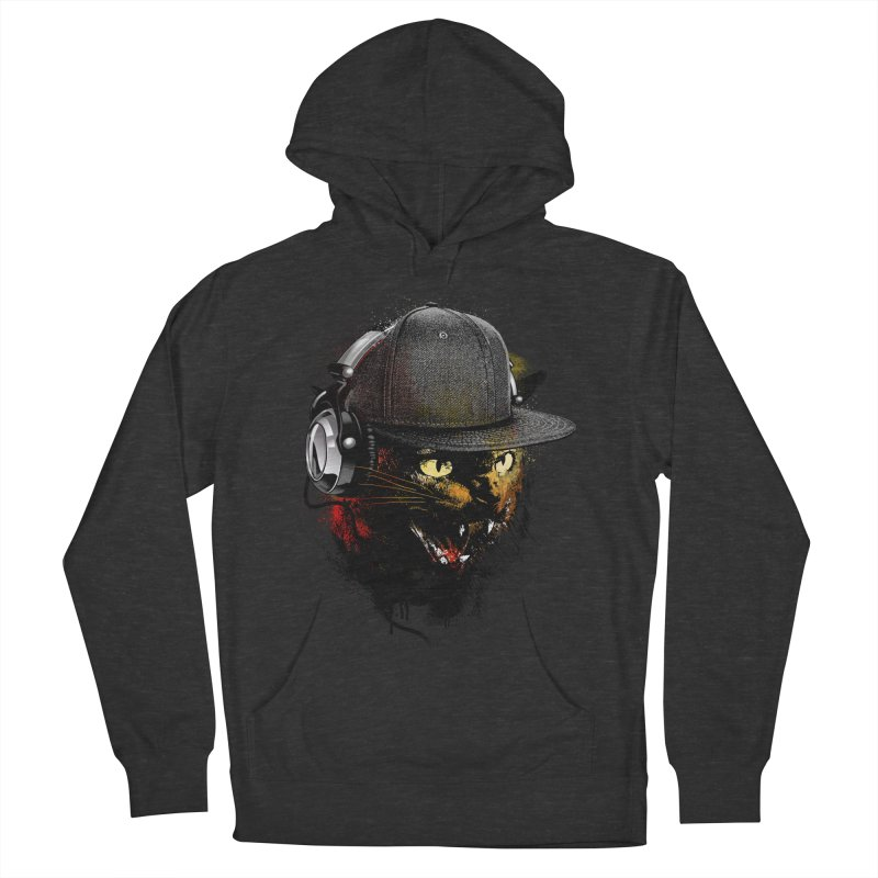 Dj Cat Men's French Terry Pullover Hoody by moncheng's Artist Shop