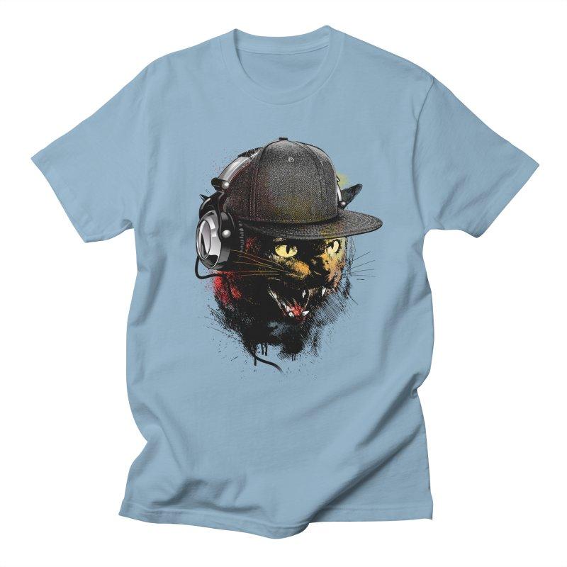 Dj Cat Men's Regular T-Shirt by moncheng's Artist Shop