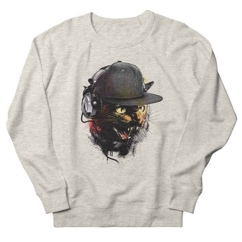 Dj Cat Women's French Terry Sweatshirt by moncheng's Artist Shop