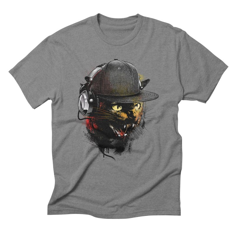 Dj Cat Men's Triblend T-Shirt by moncheng's Artist Shop