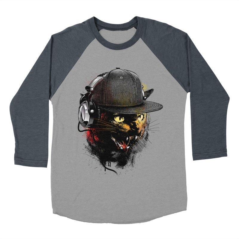 Dj Cat Men's Baseball Triblend Longsleeve T-Shirt by moncheng's Artist Shop