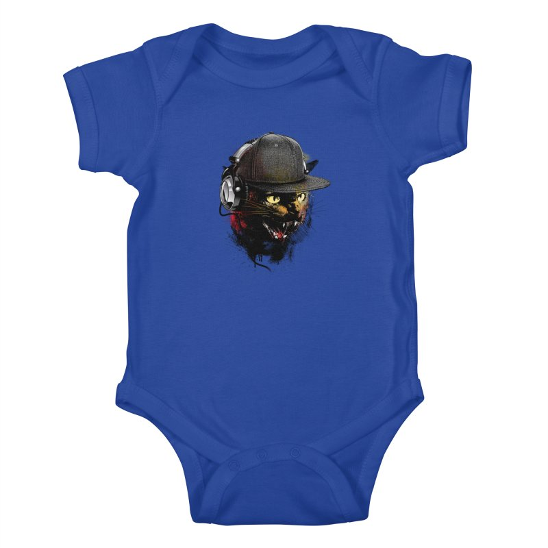 Dj Cat Kids Baby Bodysuit by moncheng's Artist Shop