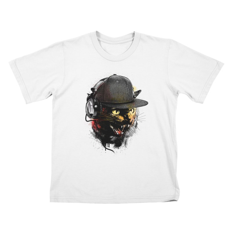 Dj Cat Kids T-shirt by moncheng's Artist Shop