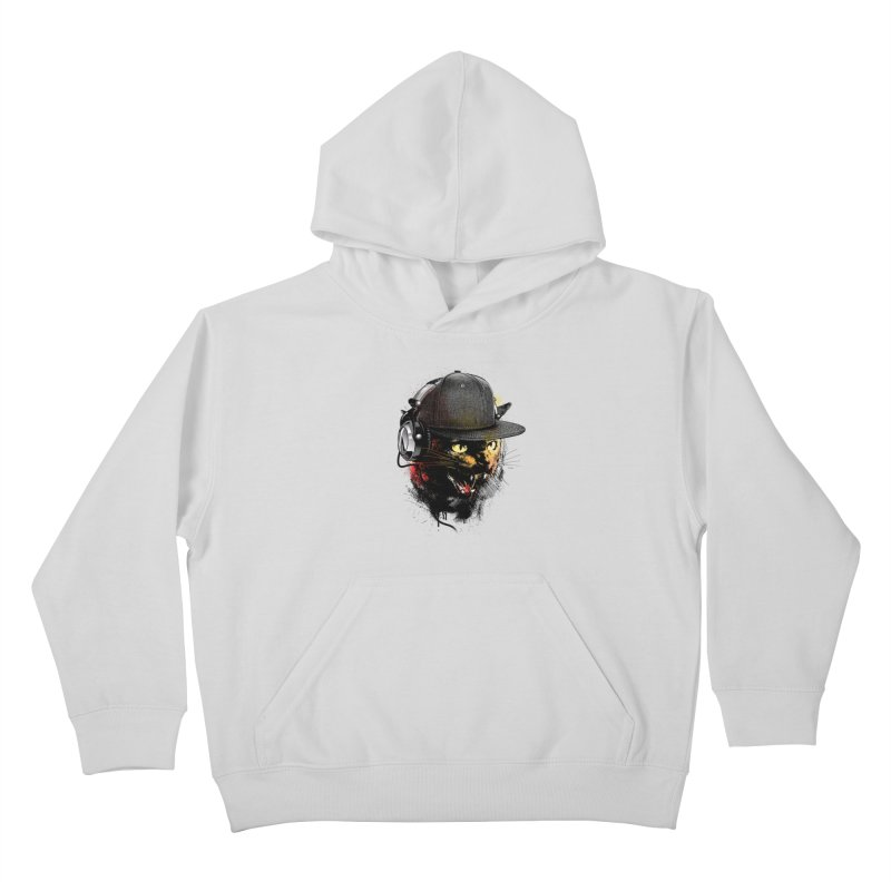 Dj Cat Kids Pullover Hoody by moncheng's Artist Shop