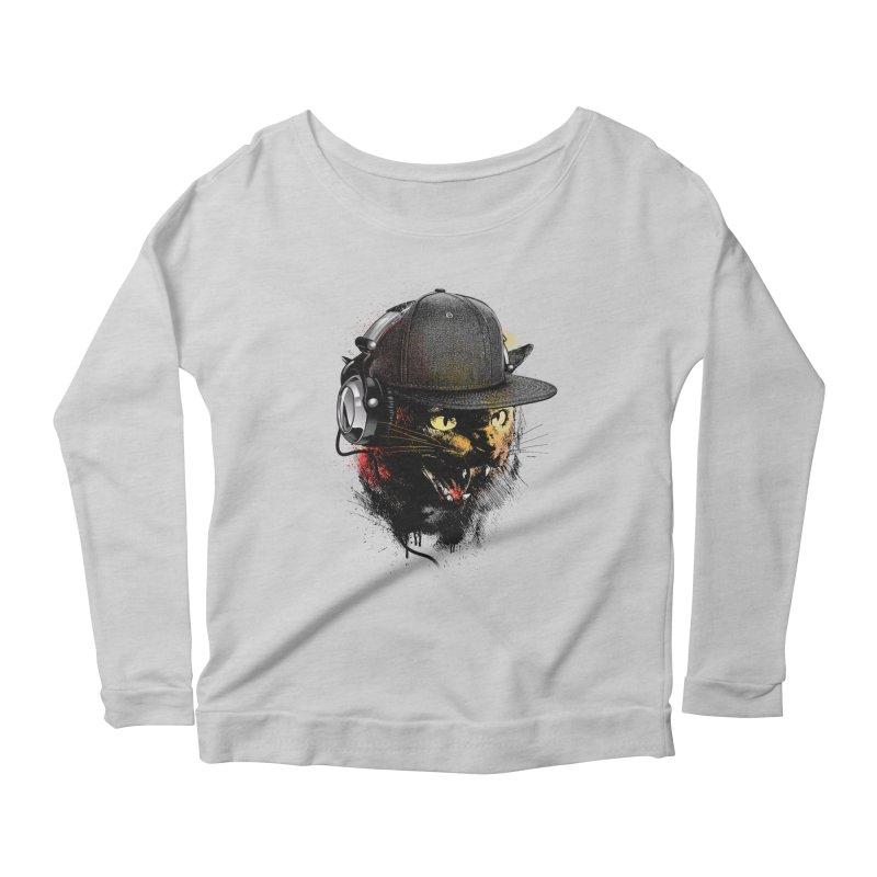 Dj Cat Women's Scoop Neck Longsleeve T-Shirt by moncheng's Artist Shop