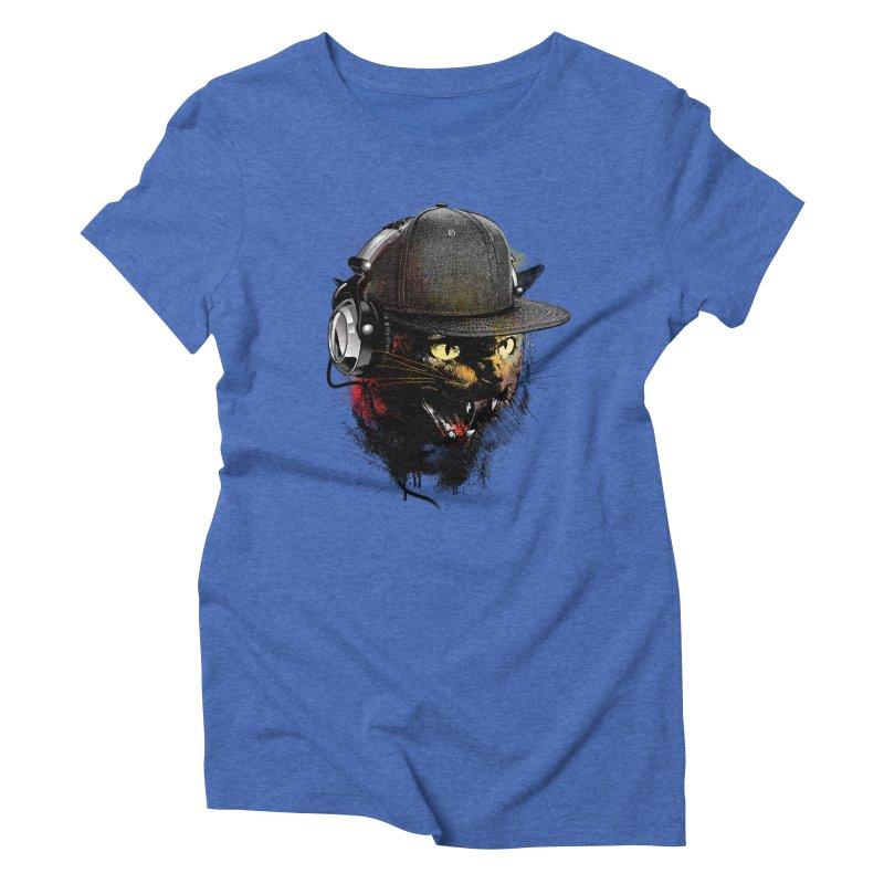 Dj Cat Women's Triblend T-Shirt by moncheng's Artist Shop
