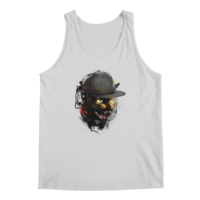 Dj Cat Men's Regular Tank by moncheng's Artist Shop