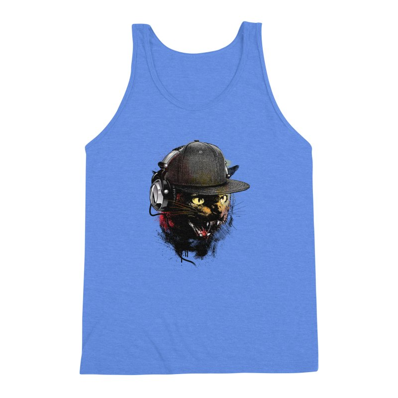 Dj Cat Men's Triblend Tank by moncheng's Artist Shop