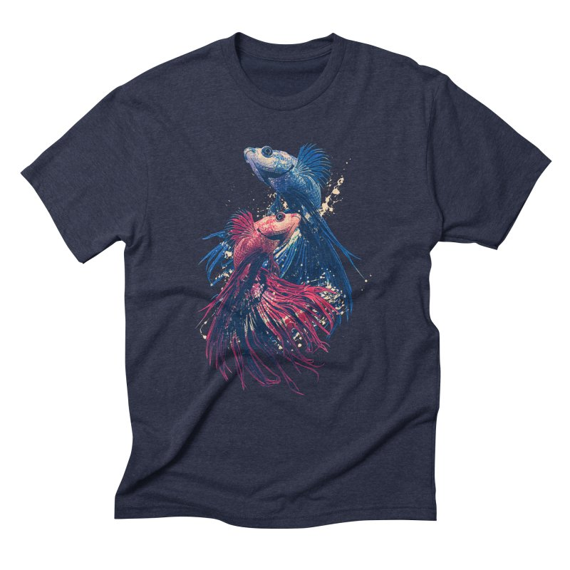 Aquarium Men's Triblend T-Shirt by moncheng's Artist Shop