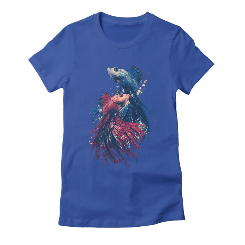 Aquarium Women's Fitted T-Shirt by moncheng's Artist Shop