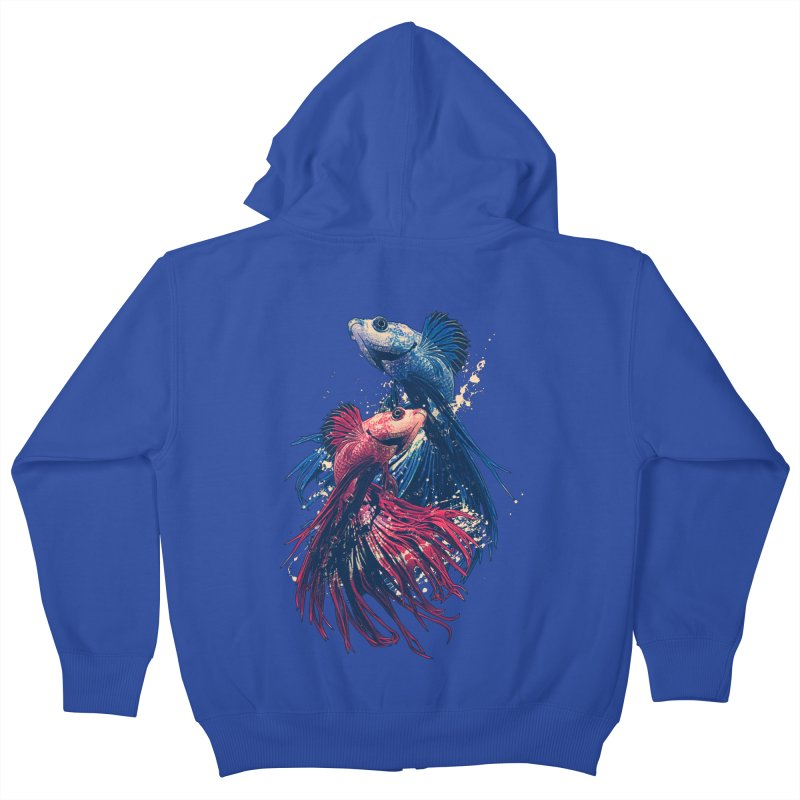 Aquarium Kids Zip-Up Hoody by moncheng's Artist Shop