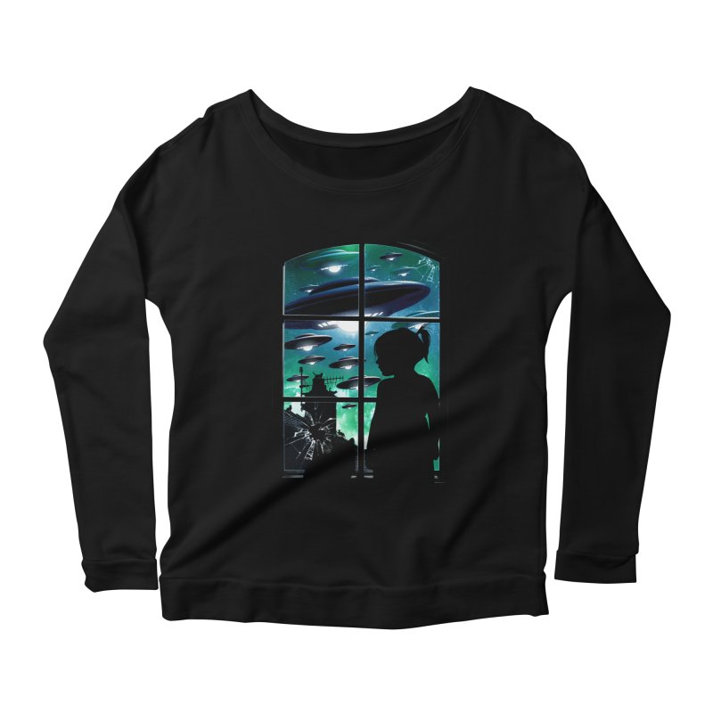 The Invasion Women's Longsleeve Scoopneck  by moncheng's Artist Shop