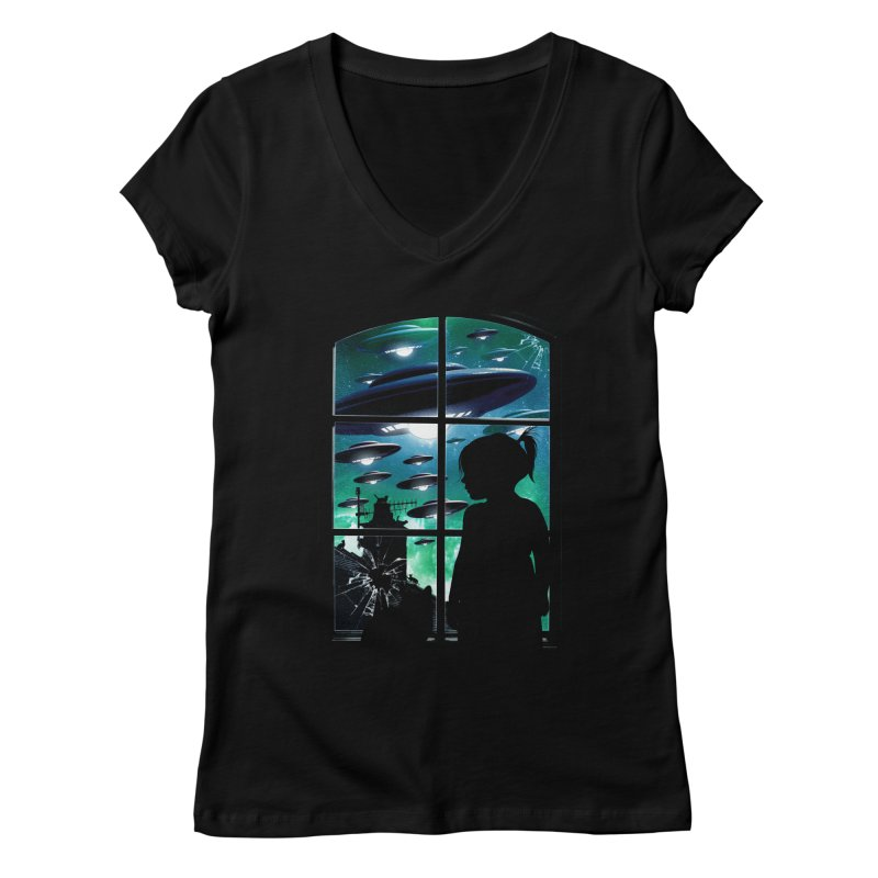 The Invasion Women's Regular V-Neck by moncheng's Artist Shop