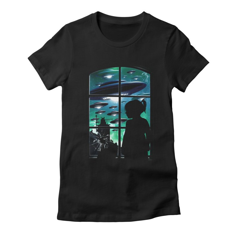 The Invasion Women's Fitted T-Shirt by moncheng's Artist Shop