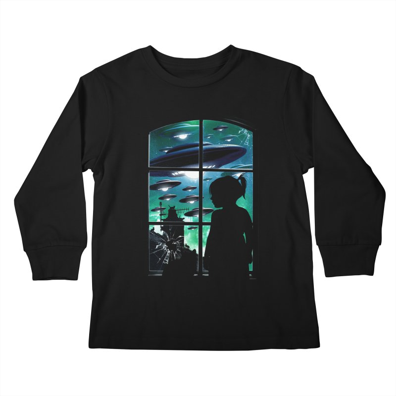 The Invasion Kids Longsleeve T-Shirt by moncheng's Artist Shop