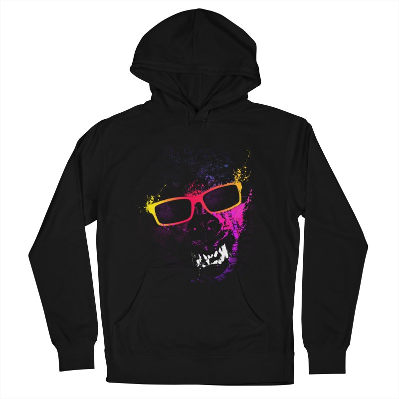 Splatter Wolves Men's French Terry Pullover Hoody by moncheng's Artist Shop