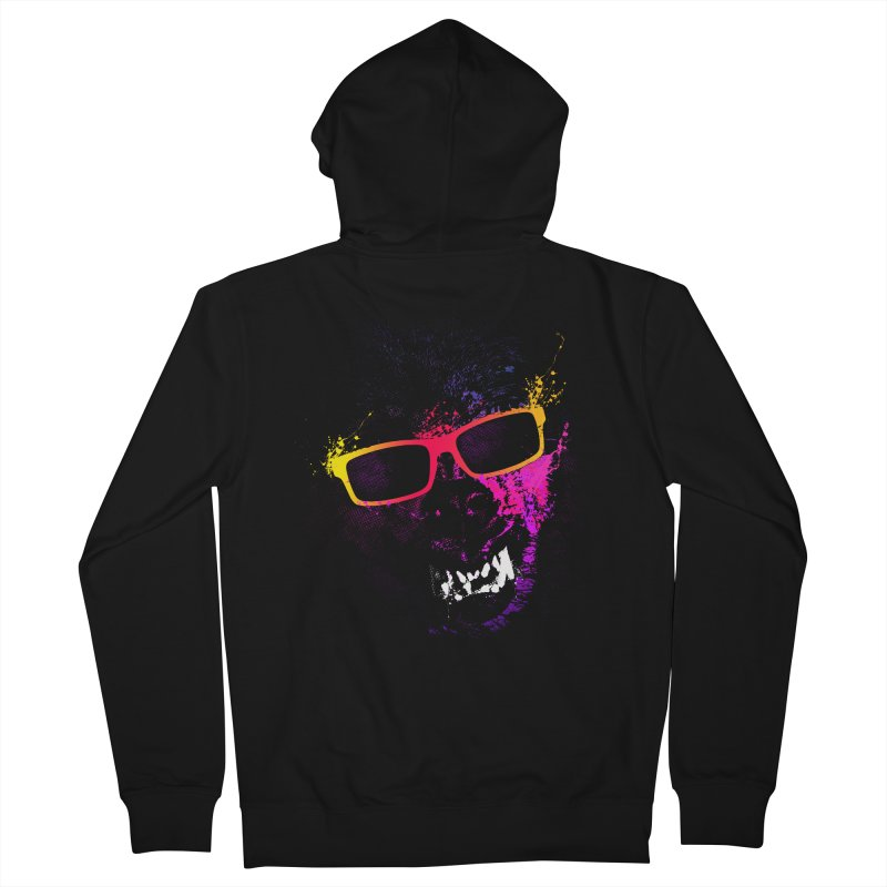 Splatter Wolves Men's Zip-Up Hoody by moncheng's Artist Shop