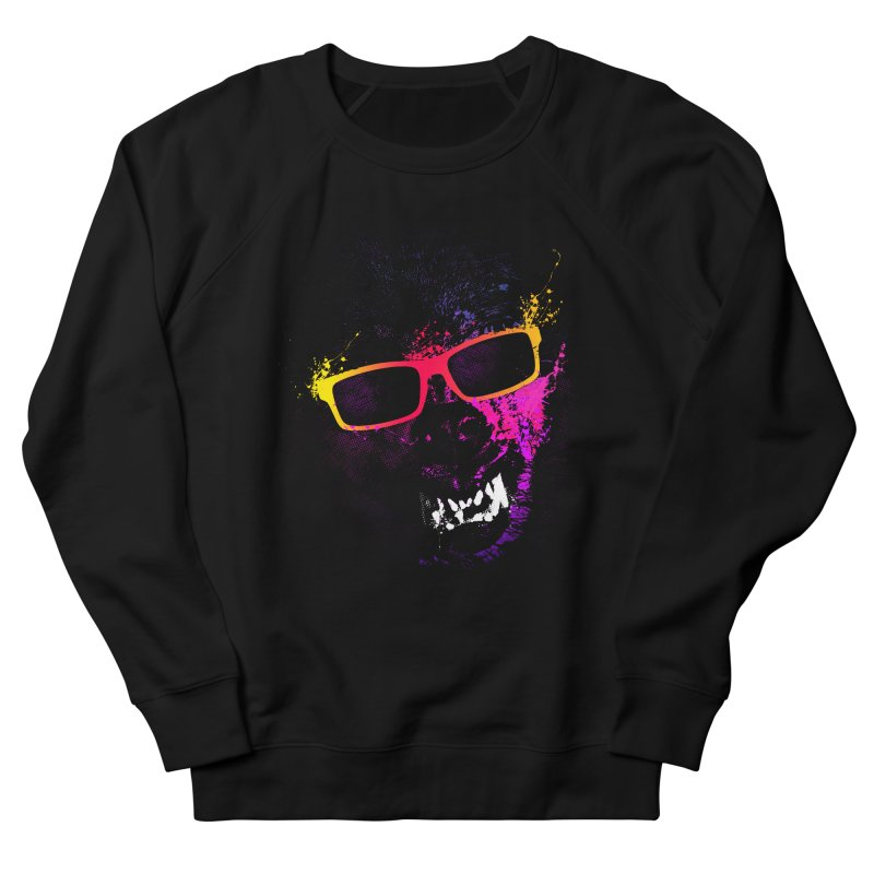 Splatter Wolves Men's French Terry Sweatshirt by moncheng's Artist Shop