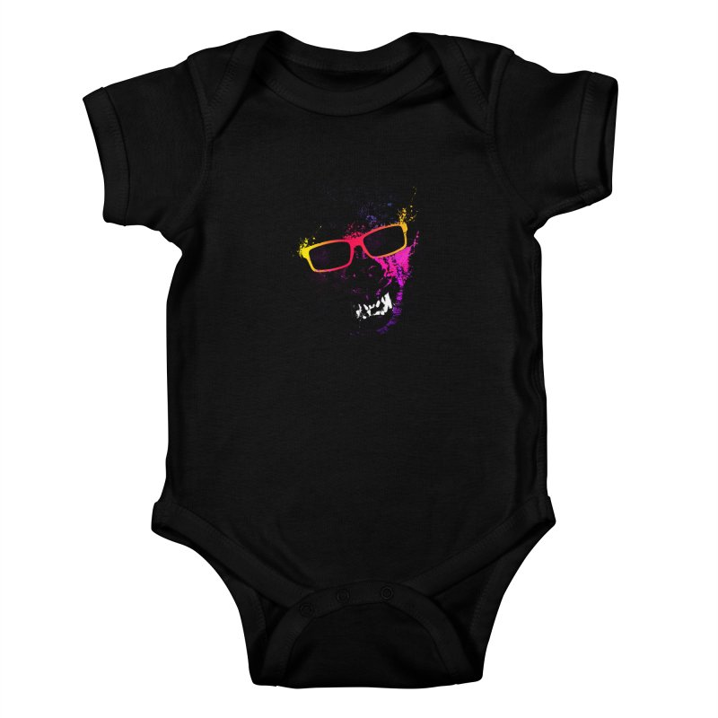 Splatter Wolves Kids Baby Bodysuit by moncheng's Artist Shop