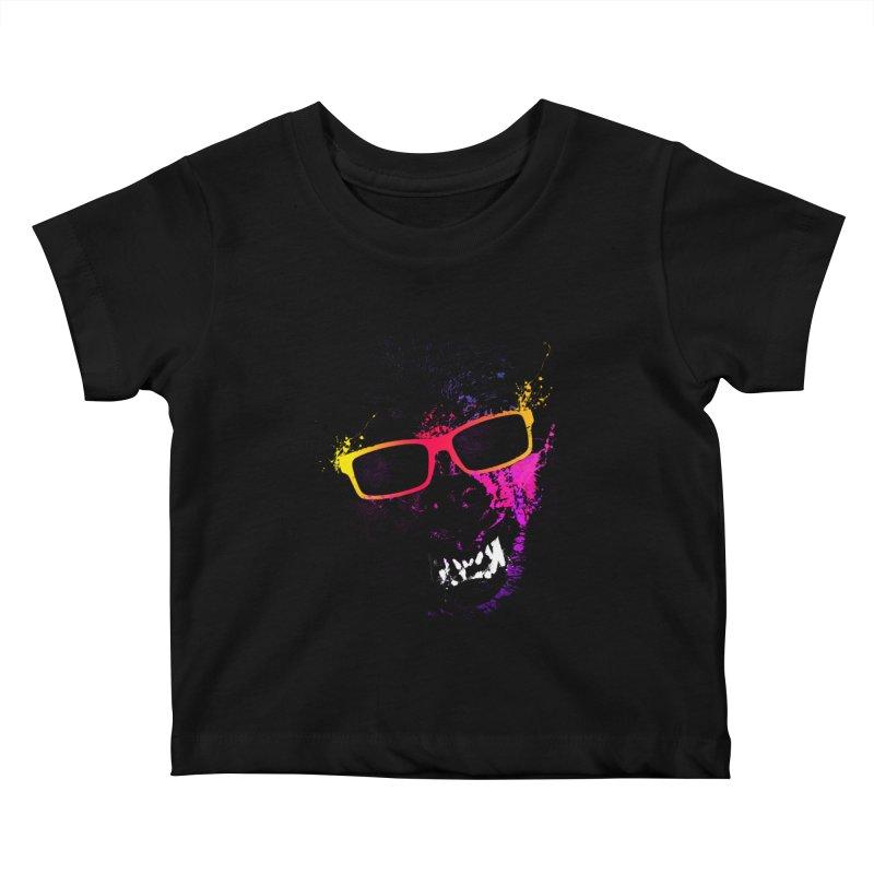 Splatter Wolves Kids Baby T-Shirt by moncheng's Artist Shop
