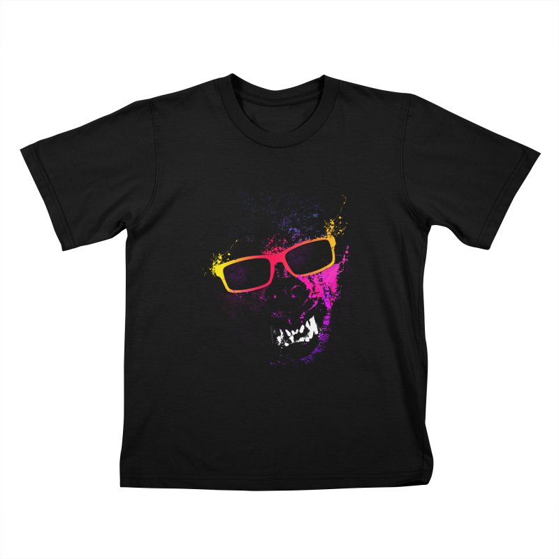 Splatter Wolves Kids T-Shirt by moncheng's Artist Shop