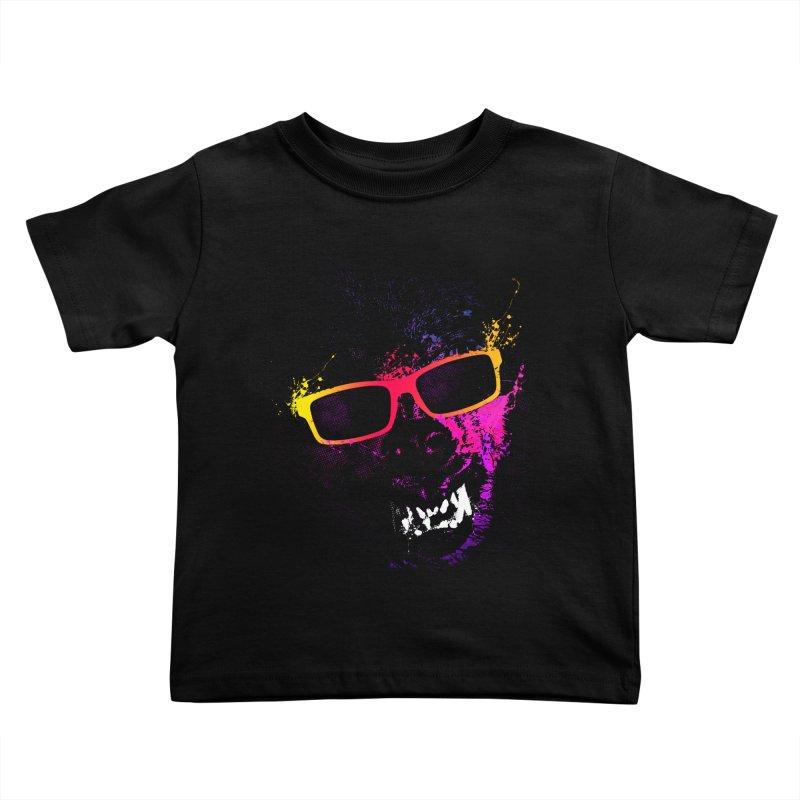 Splatter Wolves Kids Toddler T-Shirt by moncheng's Artist Shop