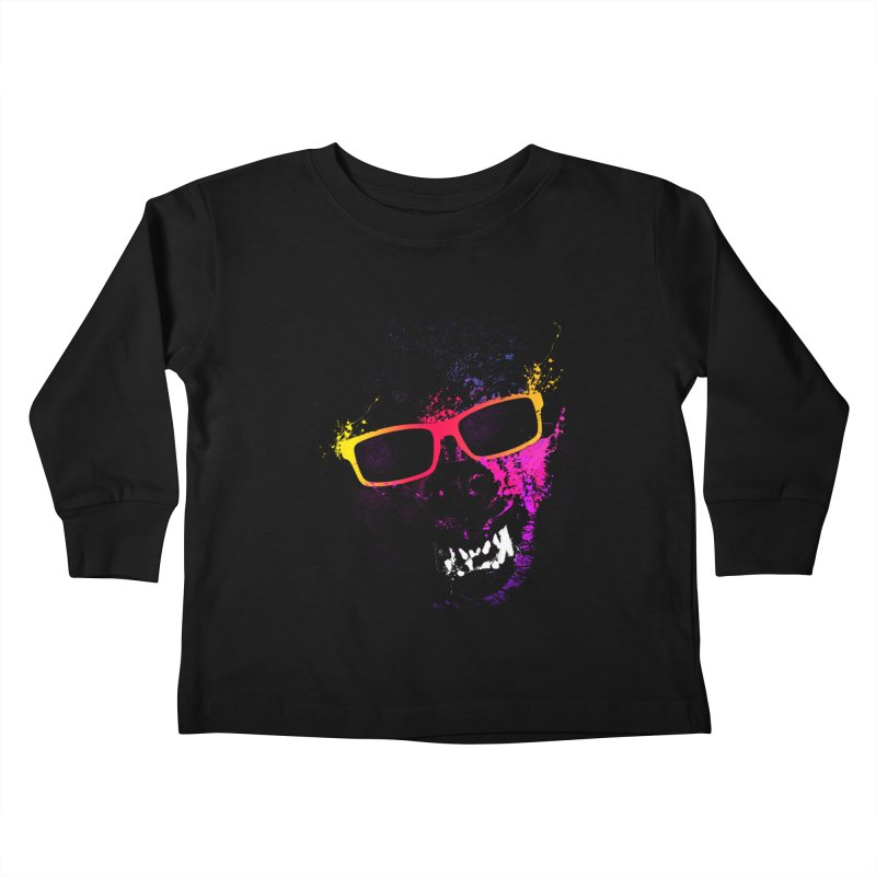Splatter Wolves Kids Toddler Longsleeve T-Shirt by moncheng's Artist Shop