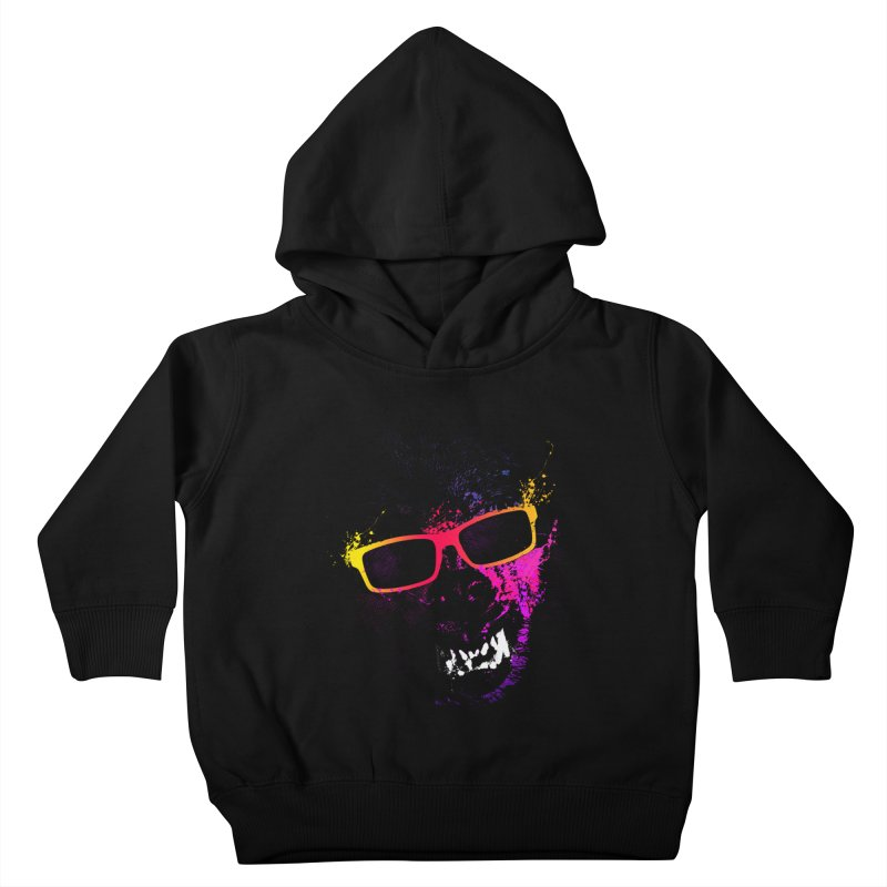 Splatter Wolves Kids Toddler Pullover Hoody by moncheng's Artist Shop