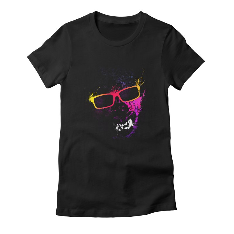 Splatter Wolves Women's Fitted T-Shirt by moncheng's Artist Shop