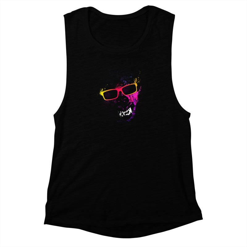Splatter Wolves Women's Muscle Tank by moncheng's Artist Shop