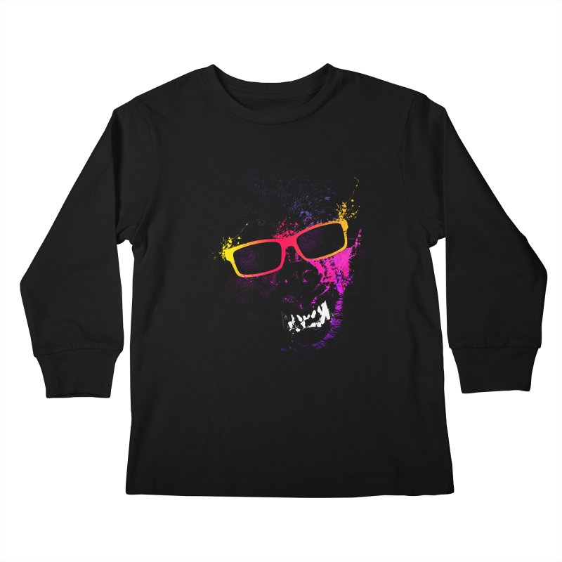 Splatter Wolves Kids Longsleeve T-Shirt by moncheng's Artist Shop