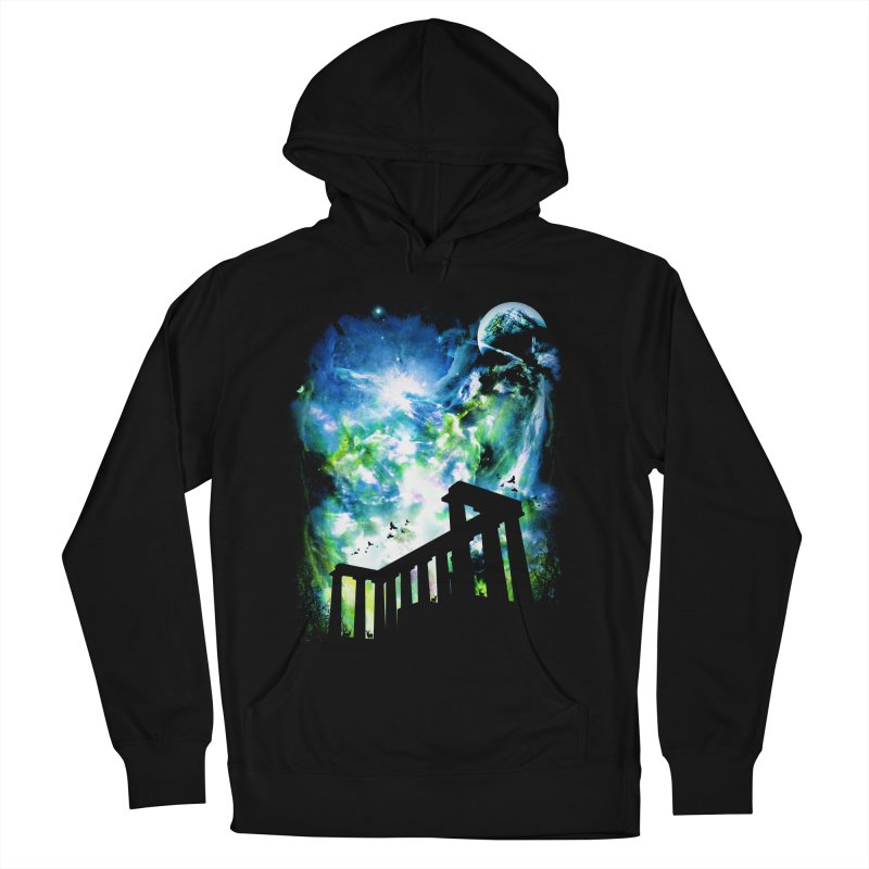 Aurora Night Men's French Terry Pullover Hoody by moncheng's Artist Shop