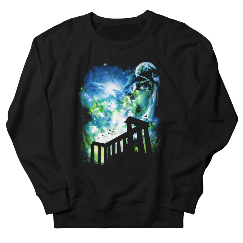 Aurora Night Men's French Terry Sweatshirt by moncheng's Artist Shop