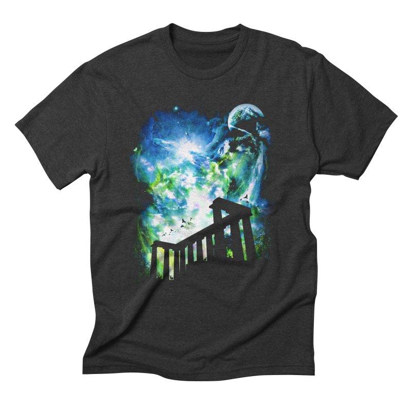 Aurora Night Men's Triblend T-Shirt by moncheng's Artist Shop