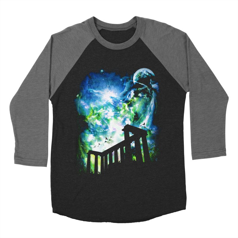 Aurora Night Women's Baseball Triblend Longsleeve T-Shirt by moncheng's Artist Shop