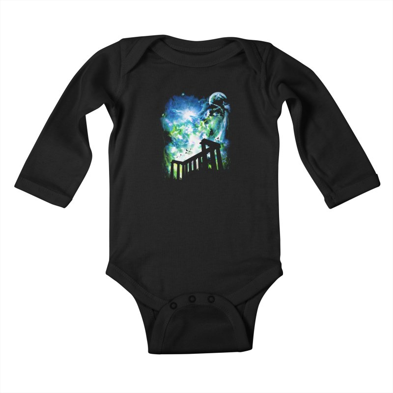 Aurora Night Kids Baby Longsleeve Bodysuit by moncheng's Artist Shop