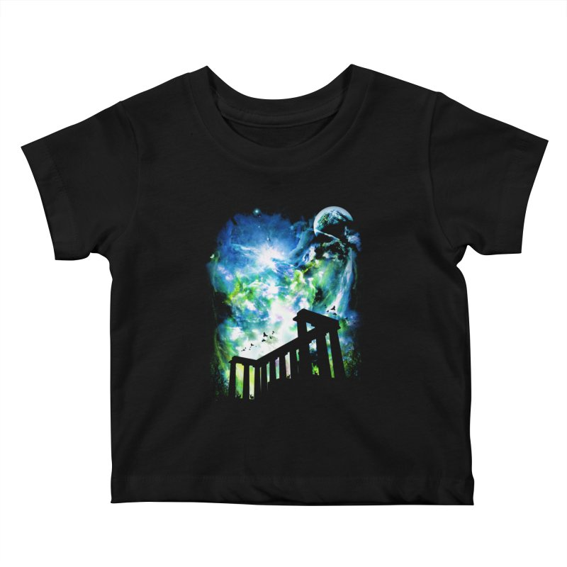 Aurora Night Kids Baby T-Shirt by moncheng's Artist Shop