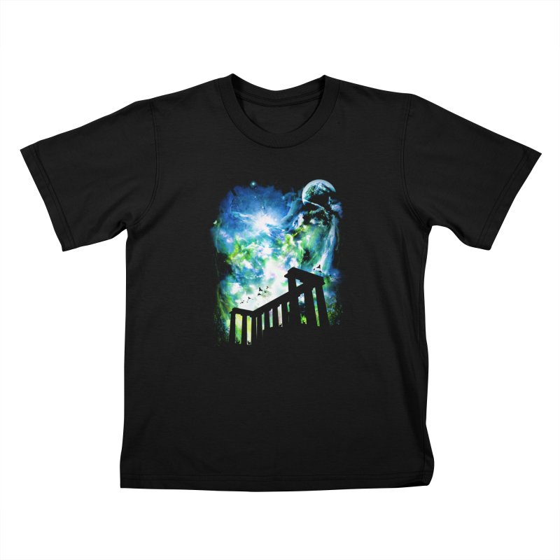 Aurora Night Kids Toddler T-Shirt by moncheng's Artist Shop