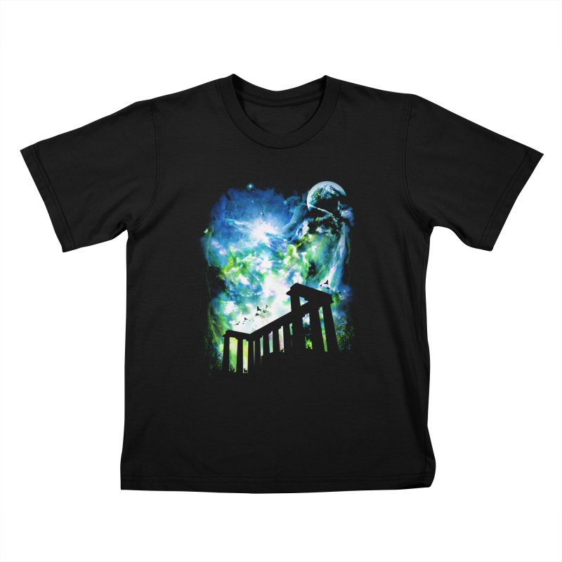 Aurora Night Kids T-Shirt by moncheng's Artist Shop
