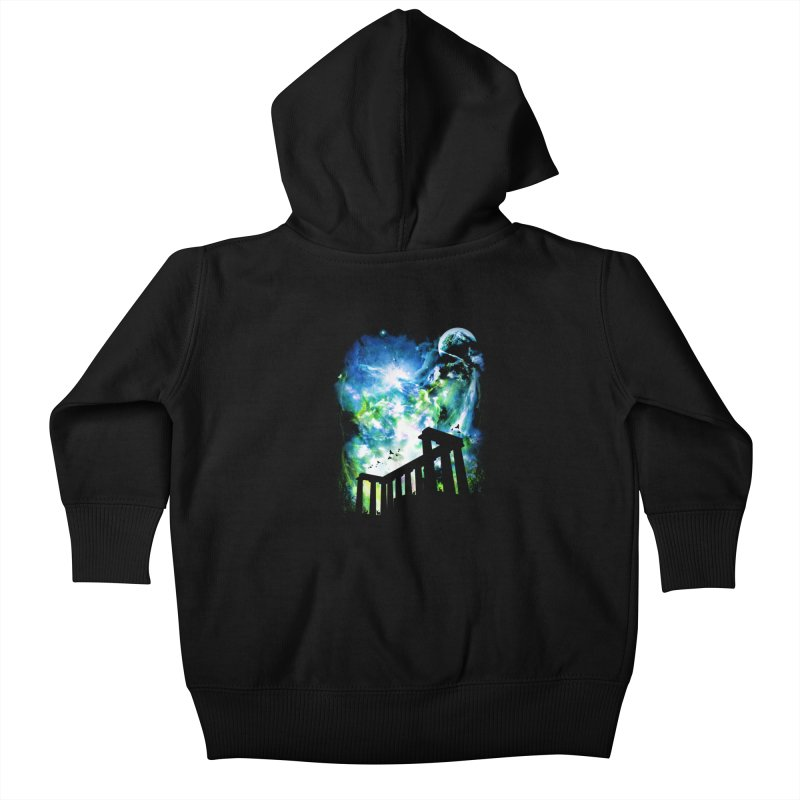 Aurora Night Kids Baby Zip-Up Hoody by moncheng's Artist Shop
