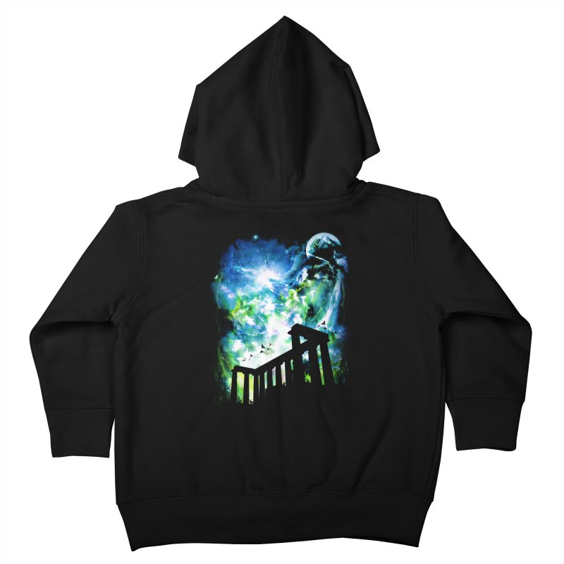 Aurora Night Kids Toddler Zip-Up Hoody by moncheng's Artist Shop