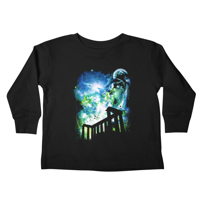 Aurora Night Kids Toddler Longsleeve T-Shirt by moncheng's Artist Shop