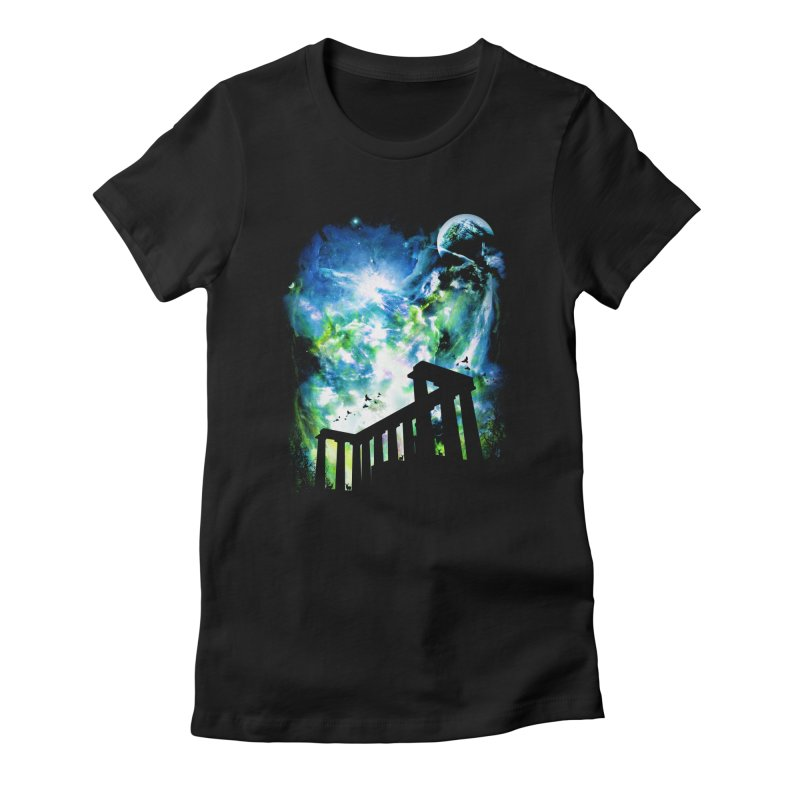 Aurora Night Women's Fitted T-Shirt by moncheng's Artist Shop