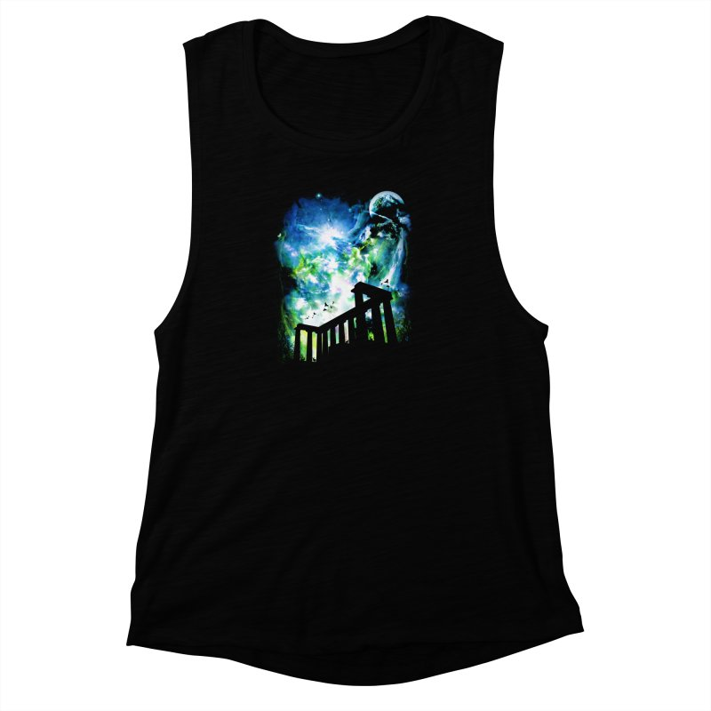 Aurora Night Women's Muscle Tank by moncheng's Artist Shop